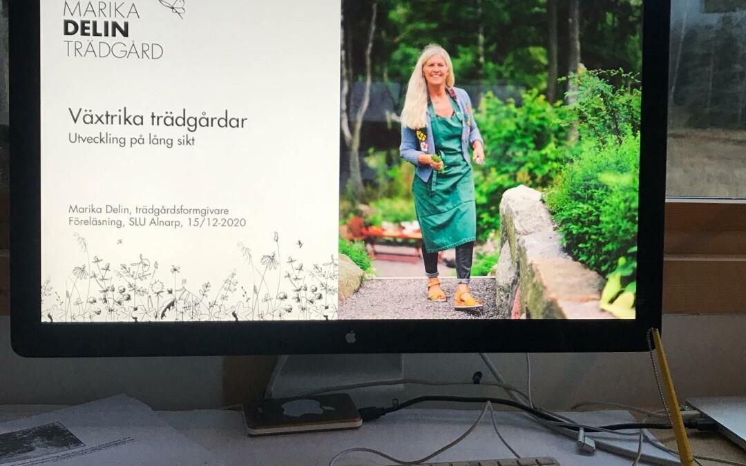 Föreläsning för landskapsingenjörer och landskapsarkitekter på SLU i Alnarp